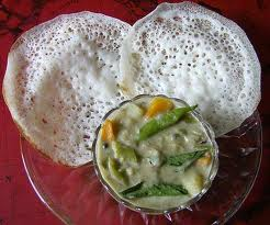 Kerala Dishes-Appam And Chicken Stew